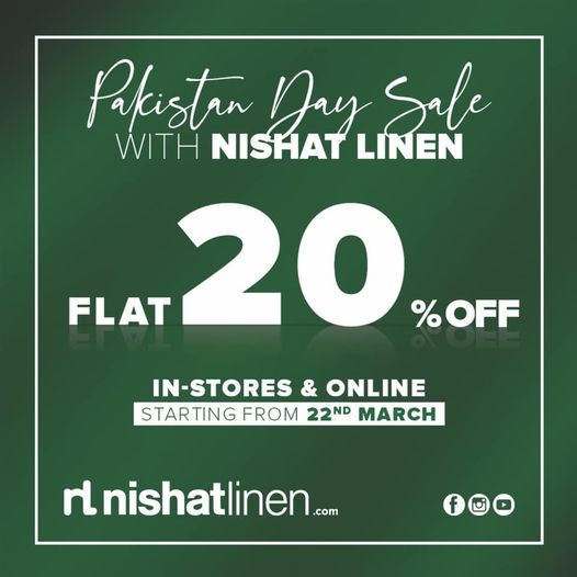 Nishat Linen - Pakistan Day Sale
