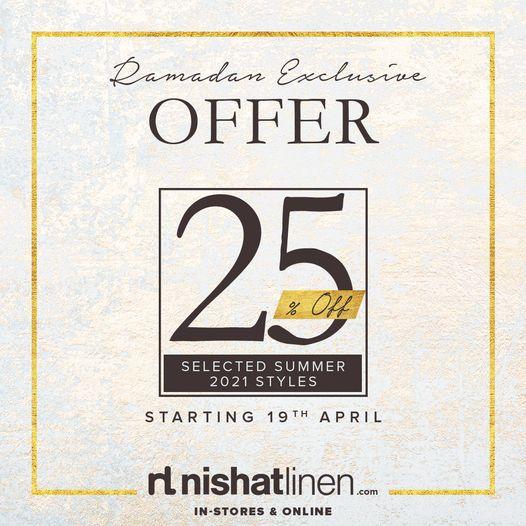 Nishat Linen - Ramzan Sale