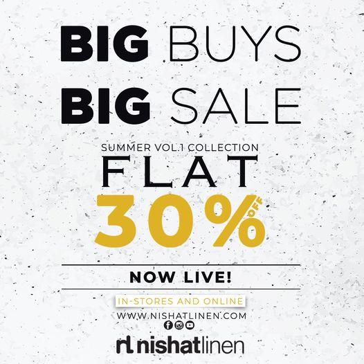 Nishat Linen - Big Buys Big Sale