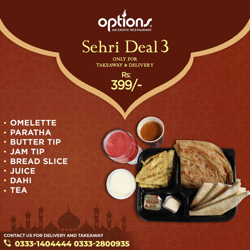 Options - Sehri Deal