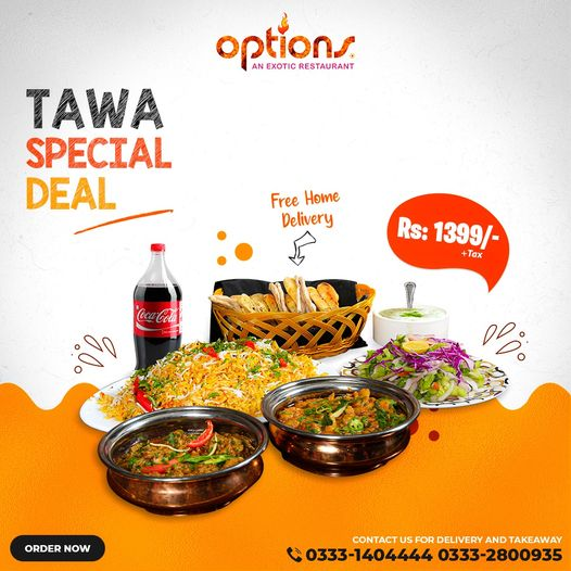 Options - Tawa Special Deal