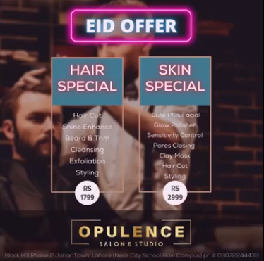 Opulence Salon & Studio - Eid Deal