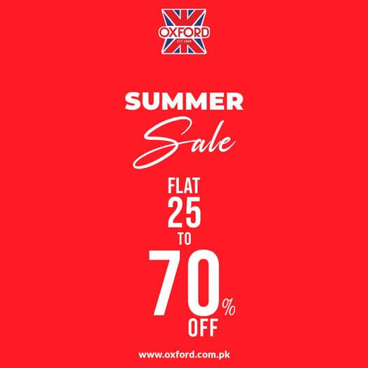 Oxford Store - Great Summer Sale