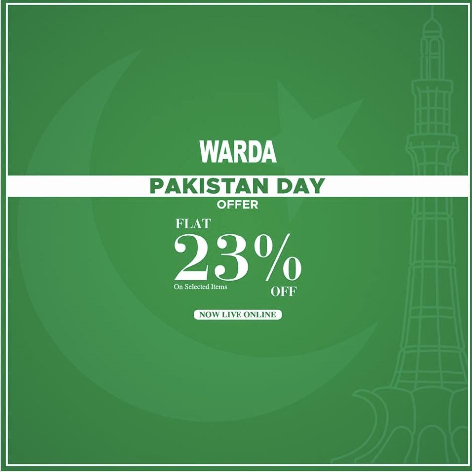 Warda - Pakistan Day Sale