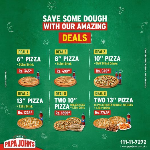 Papa John's Pizza - Friendly Deals