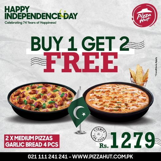 Pizza Hut - Buy 1 Get 2 Free