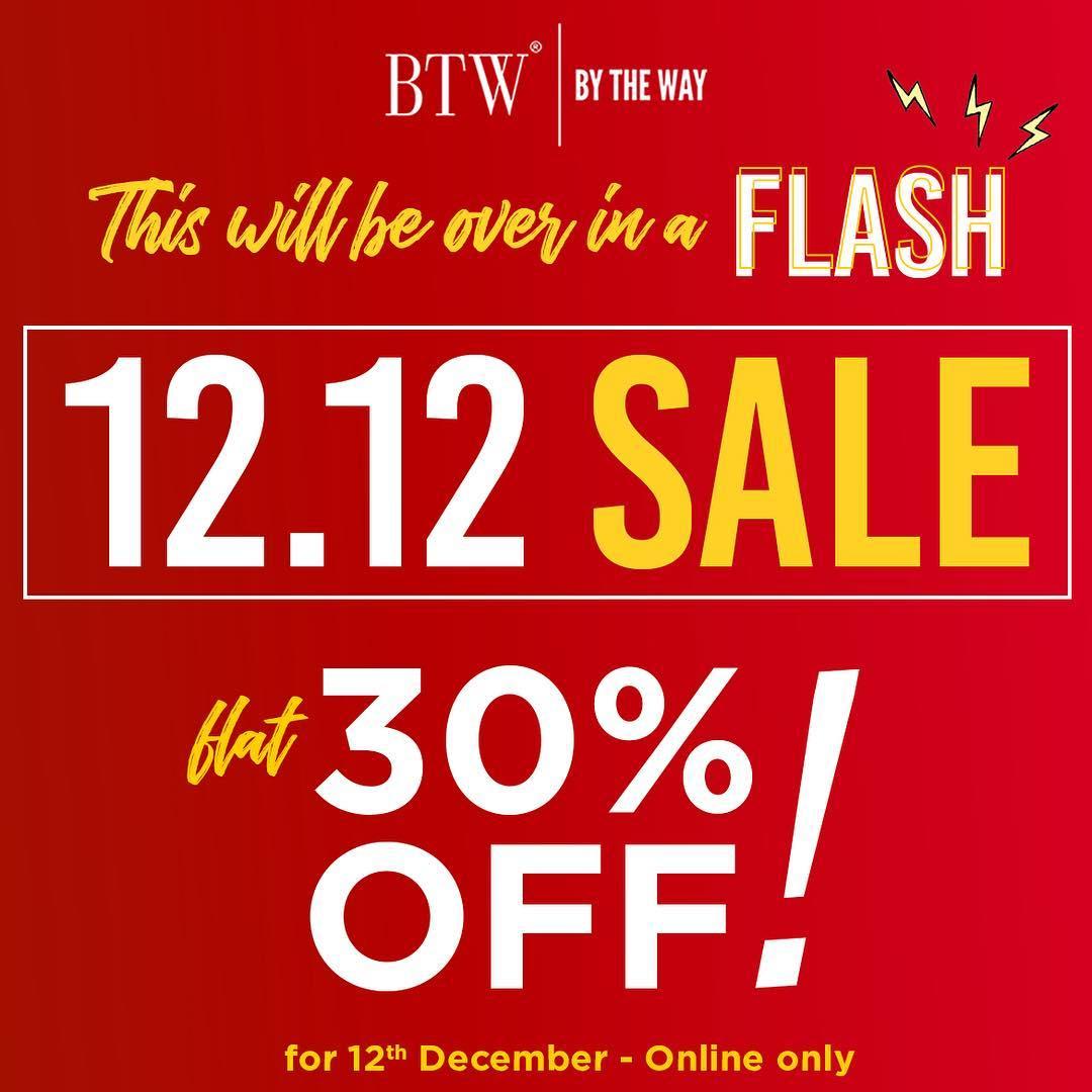 Btw - By The Way - BTW - 12.12 SALE