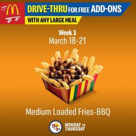 Free BBQ Loaded Fries