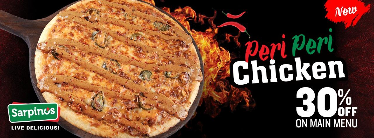 Sarpino's - Peri Peri Pizza Deal