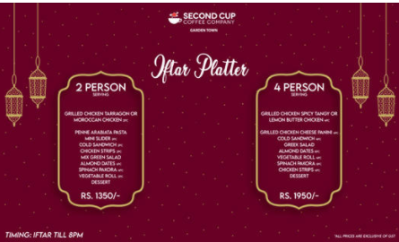 Secondcup - Iftar Deal