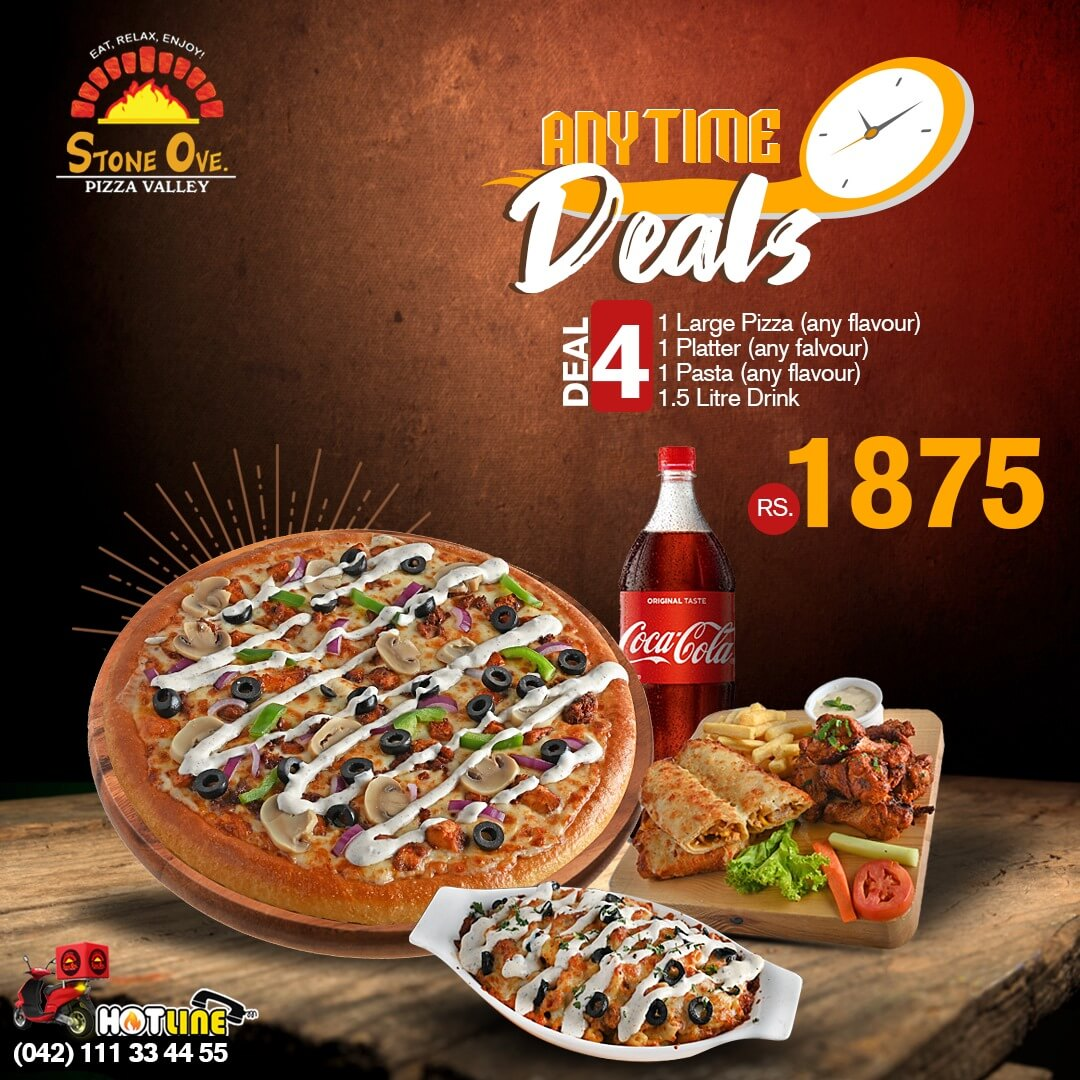 Stone Ove Pizza - Any Time Deal
