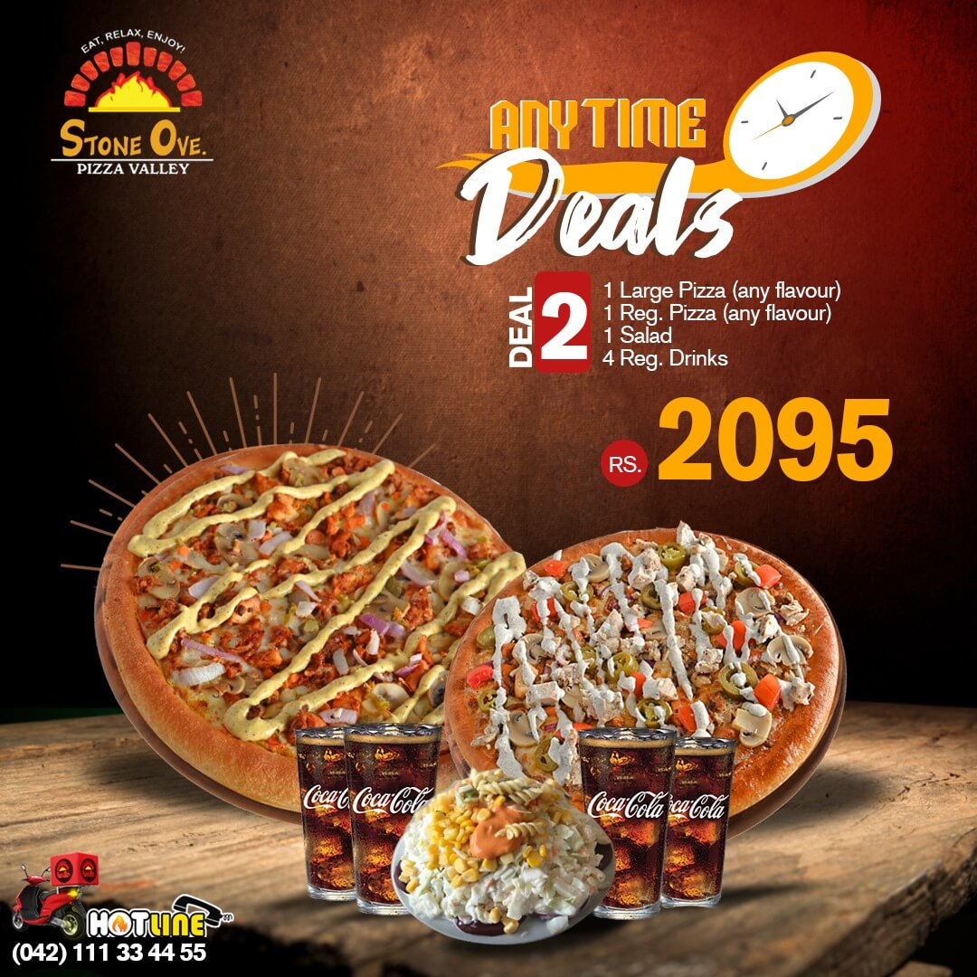 Stone Ove Pizza - Any Time Deal 2