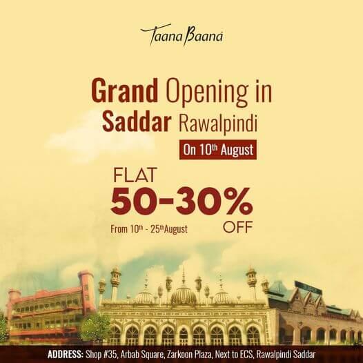 Taanabaana - Grand Opening Sale