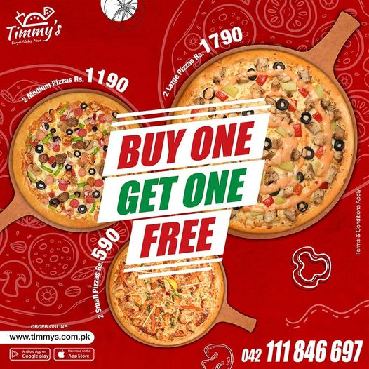 Timmy's - Buy One Get One Free