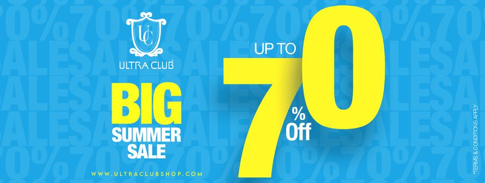 Ultra Club - Biggest Summer Sale