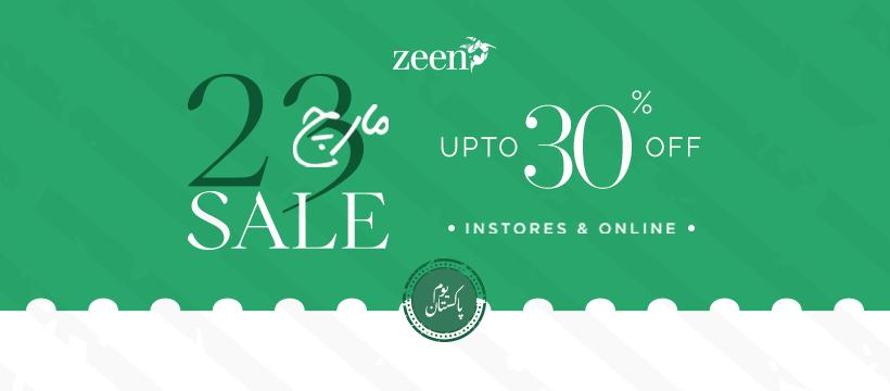 Zeen - Pakistan Day Sale